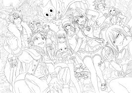 Anime Fairy Coloring Pages Tail Full 0 Of With Ribsvigyapan Com Gamz