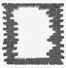simple black frame png brick