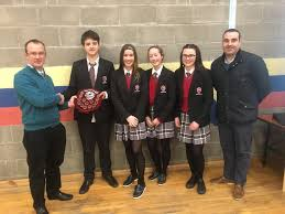 our transition year students with the help of their coordinators mr madden and ms beirne successfully organised a table quiz for our local post primary