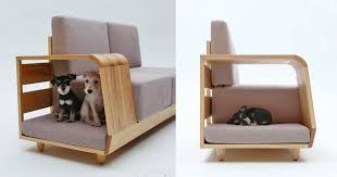 an integrated dog bed in the armrest