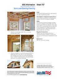 info 707 what s wrong with this project non load bearing framing
