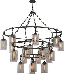 13 photos gallery of rustic wrought iron chandeliers design