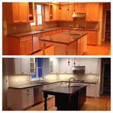 interior cabinets can either be stained or enameled whether your cabinets are new or existing our meticulous attention to detail and proven spray