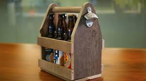 diy pallet wood beer carrier