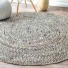pottery barn jute rug round jute rug 6 causal natural fiber jute and cotton pinstripes black pottery barn jute rug