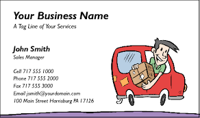 Business Cards For Couriers