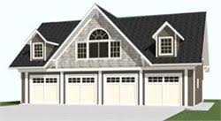 Garage Plans By Behm Design   Carriage House StyleGarage Plans by Behm Design   car carriage house garage