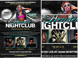 club flyer templates premier free nightclub flyer template