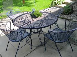 image of wrought iron patio dining set modern