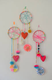 these dreamcatchers were made by 5 7yr olds in art camp