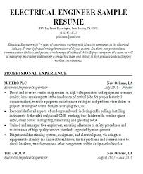 Electrical Resume Format Download Sample Resume Format For