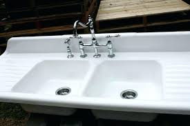 sink with drainboard kitchen sinks attached drainboards double farmhouse design inspiration stainless steel