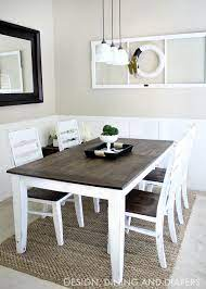 farmhouse table makeover dining table