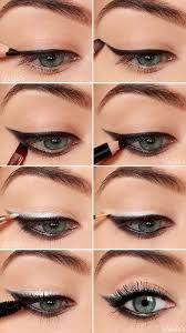 silvery colorful eyeshadow tutorials 04