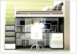 bed with office underneath. Lofted Bed With Desk Underneath Office Bunk Top Wood K
