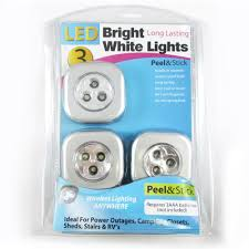 Model Power Peel And Stick Lights 4 Led Stick On Tap Lights Adhesive As On Seen Tv Night Push Touch Peel Stick New