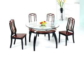 round glass dining table set for 4 top chairs kitchen with image of india