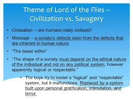 lord of the flies notes survival simulation elements of society  14 theme of lord of the flies