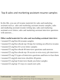 top8 sandmarketingassistantresumesamples 150331220726 conversion gate01 thumbnail 4 jpg cb 1427857692