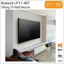 brateck lp11 46t 37 70 inch tilt curved flat tv wall mount