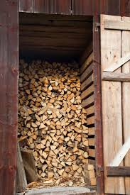 Happiness is. a nicely stacked woodpile