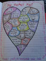 heart map from georgia heard's awakening the heart what is Heart Map For Writers Workshop heart map from georgia heard's awakening the heart what is important to you? what Writing Heart Map Printable