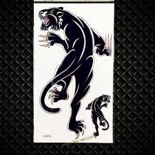 3d черная леопардовая временная татуировка пантера водонепроницаемая
