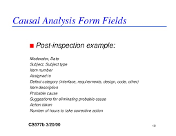 dp and causal analysis guideline causal analysis