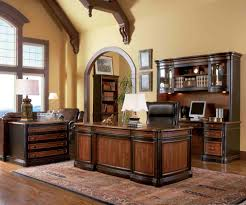 elegant office desks carving awesome country home office design classic idea solid ebony wood furniture leather awesome home office 2