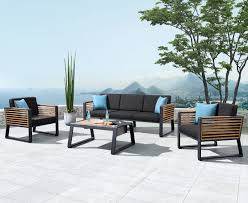 caribbean furniture. Caribbean 4pc Outdoor Lounge Setting (w/ Three Seat Sofa) Furniture S