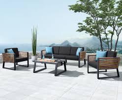 caribbean furniture. Caribbean 4pc Outdoor Lounge Setting (w/ Three Seat Sofa) Furniture W