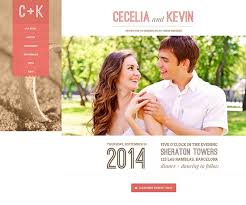 Wedding Website Templates Interesting 28 Best Wedding Website Templates Free Premium FreshDesignweb