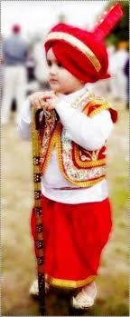 a cute little sikh punjabi boy