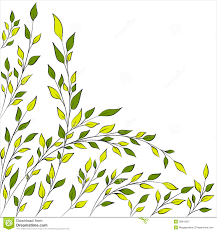 tree branch with leaves vector. tree branch background clipart with leaves vector