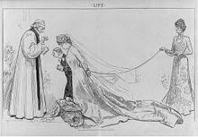 arranged marriage  the ambitious mother and the obliging clergyman a cartoon by charles dana gibson caricaturing arranged marriages in early 20th century united states