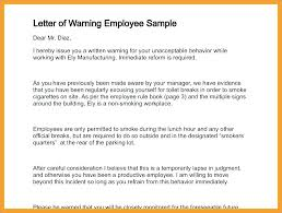 Form To Write Up An Employee Insubordination Letter Template 6 Warning For Written Up