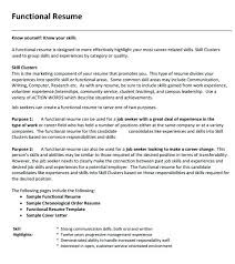 Functional Resume Example Amazing Functional Resume Template Free Download Word Templates R Good