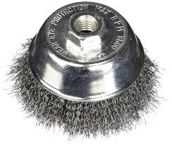 Firepower Wheel Lighting Firepower 1423 3158 Wire Cup Type Crimped Carbon Steel Wire Brush With 4 Inch Cup Diameter And 5 8 Inch Nc Threaded Arbor