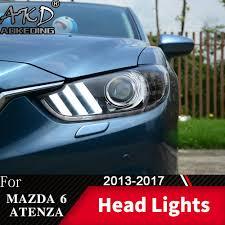 2017 Mustang Lights 2019 Head Lamp For Car 6 Atenza 2013 2017 Mustang Headlights Fog Light Day Running Light Drl H7 Led Bi Xenon Bulb Car Accessory From Miaotang 803 85