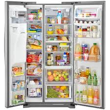 Top Ten Side By Side Refrigerators Kenmore Elite 51823 219 Cu Ft Side By Side Refrigerator