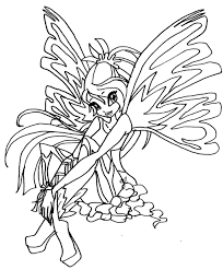 Stella Transformation Sirenix Coloring Pages Hellokids Com L L L L