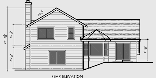 house side elevation view for 6631 split level house plans 3 bedroom house plans