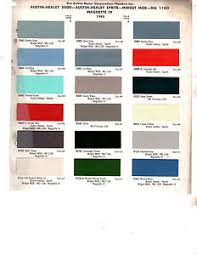 Austin Healey Color Chart Details About 1956 1957 1958 1959 1960 To 1968 Austin Healey Mg Mgb Magnette Paint Chips 65 D3