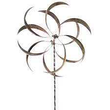 bubbles wind spinner yard spinners art bronze carnival metal windmill amazing spin