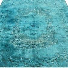 turquoise hand carved over dyed rug type overdyed target