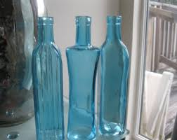 Decorative Colored Glass Bottles Colored glass bottle Etsy 90