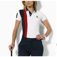 womens ralph lauren richardclason short sleeved polo pony red black white