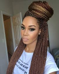 Twist Braids Hair Style loving her makeup and the color of her senegalese twist 3360 by wearticles.com