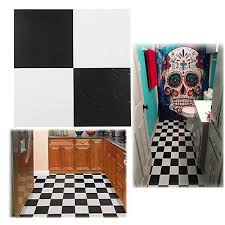black and white vinyl tiles l and stick floor self adhesive flooring 20 pack