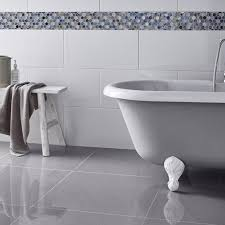 grey gloss porcelain floor tiles details